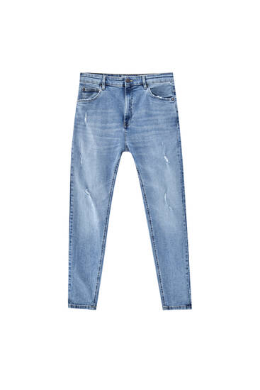 Jeans carrot azules