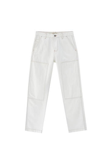 Baggy jeans met kniepatches