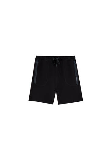 Ottoman Bermuda jogging shorts with pockets