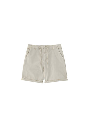 Chino Bermuda shorts with accessory - ecologically grown cotton (at least 50%)
