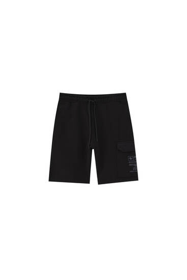 STWD cargo jogger Bermuda shorts - ecologically grown cotton (at least 50%)