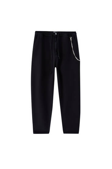 Balloon fit trousers with chain