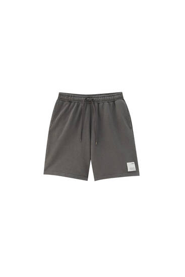 Faded Bermuda jogging shorts