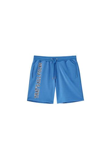 Bermuda tipo pants Looney Tunes rayas