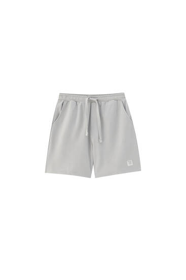 Comfort jogger Bermuda shorts - ecologically grown cotton (at least 75%)