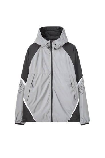 STWD raincoat with contrast panels