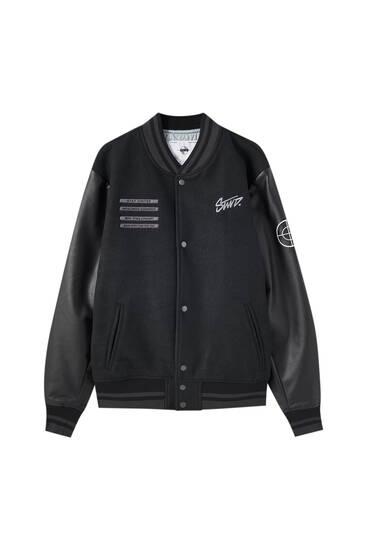 Contrast STWD bomber jacket