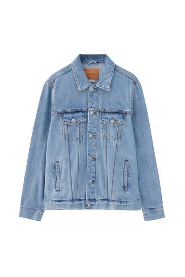 Basic coloured denim jacket
