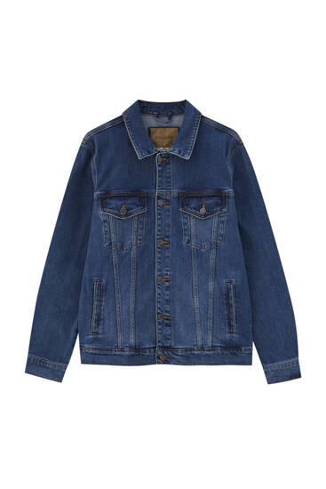 Basic denim jacket - water-saving processes