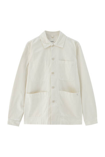 Lightweight overshirt with four pockets