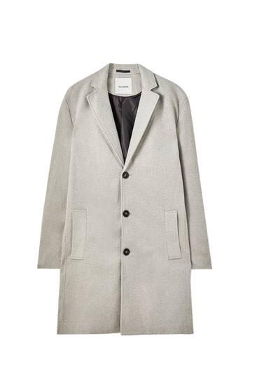 Basic buttoned coat