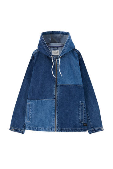 Patchwork design denim jacket