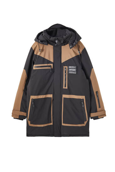 Waterproof technical fabric parka