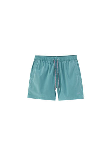 Garment dyed swimming trunks