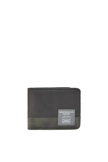 Grey panelled wallet