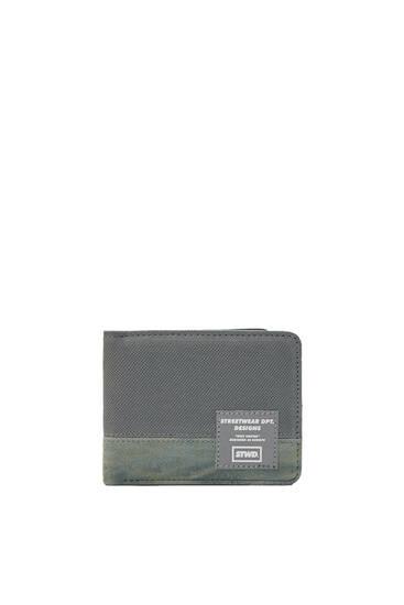 Khakifärgad plånbok panel
