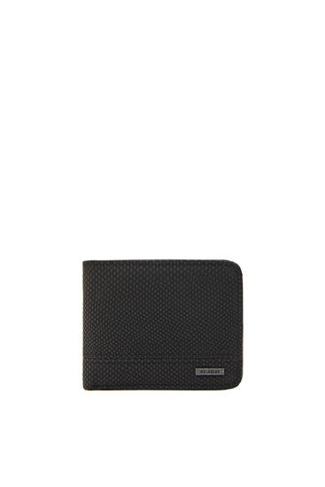 Black wallet with snakeskin print