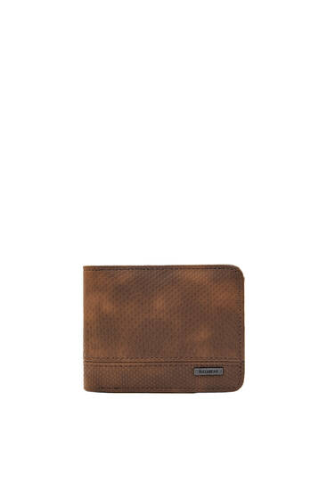 Brown snakeskin print purse