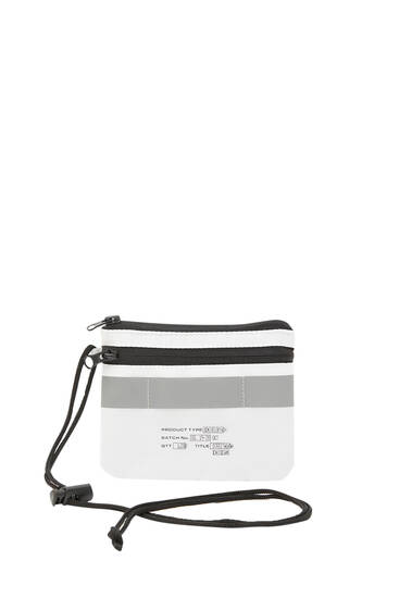 White purse with cord