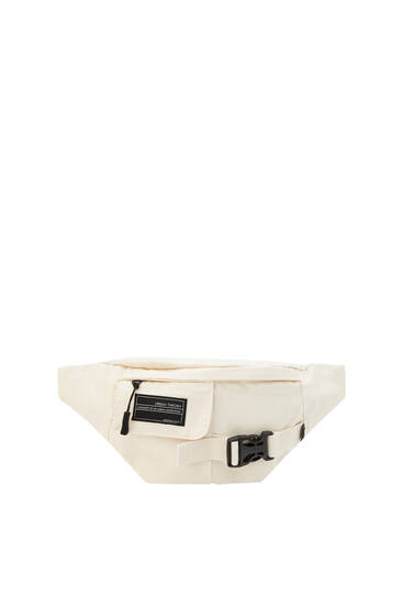 Beige Urban logo belt bag