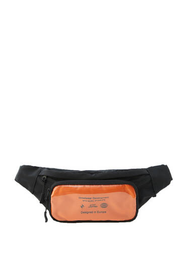Belt bag with orange pocket