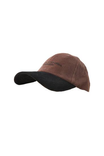 Kontrastējoša velveta cepure