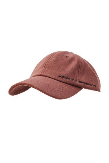 Felt cap with peak