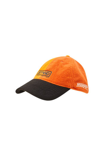 Orange faux shearling STWD hat