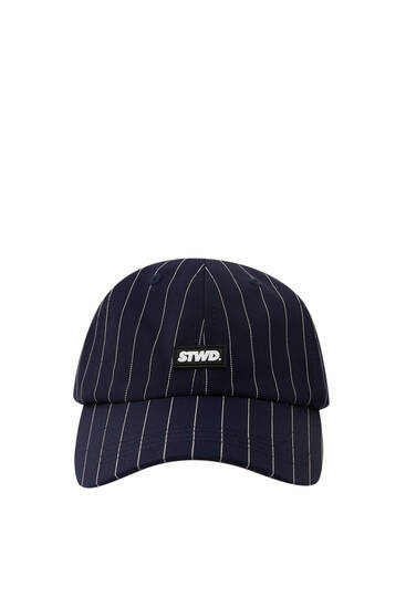 Blue STWD cap with stripes