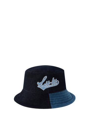 Lunay embroidered denim bucket hat