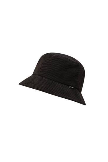 Chapéu bucket de bombazina
