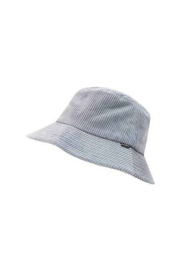Corduroy logo bucket hat