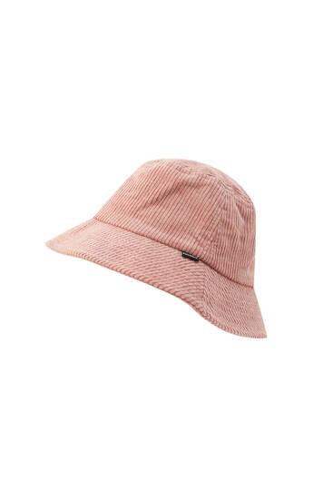 Κοτλέ καπέλο bucket με λογότυπο