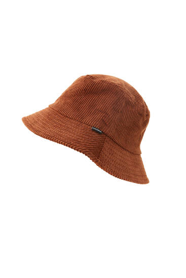 Chapéu bucket de bombazina com logótipo