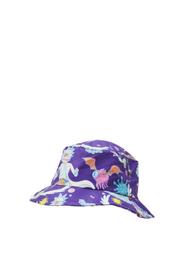 Violet Rick & Morty bucket hat