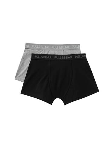 Pack of 2 contrasting boxers