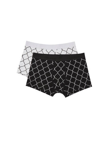 2-pack of printed boxers