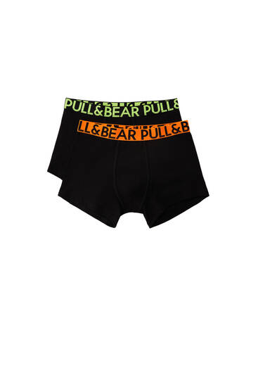 Pack of 2 neon detail boxers