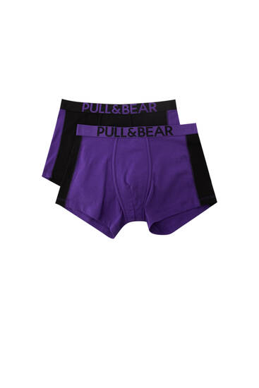 2-pack boxershorts lila panel