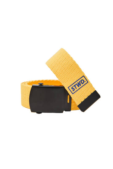 Yellow canvas belt
