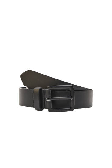 Cinturón negro hebilla cuadrada