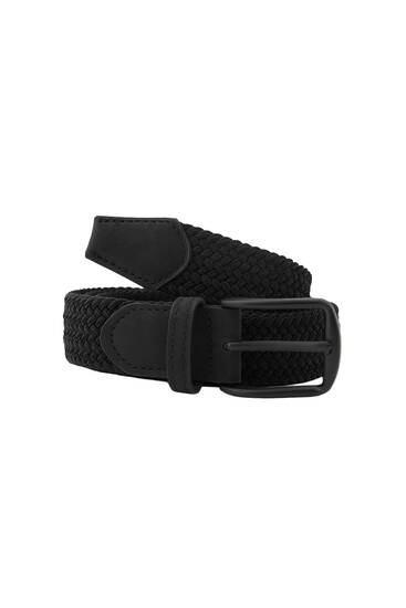 Elastic fabric belt