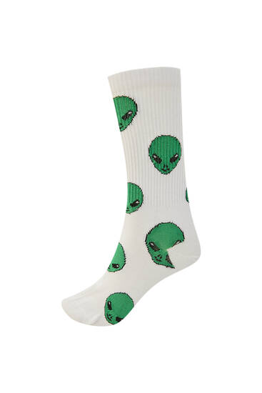 Long alien socks
