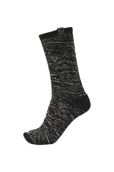 Marble-effect sports socks