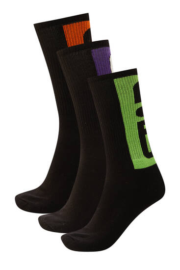 Pack of contrast detail socks