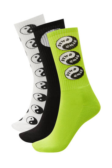 Pack of Yin and Yang socks