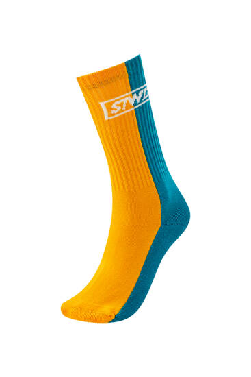 Long colour block STWD sports socks