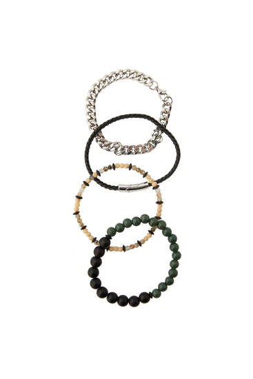 Pack of 4 beaded bracelets