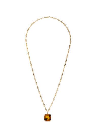 Золотисте намисто з підвіском під черепаху