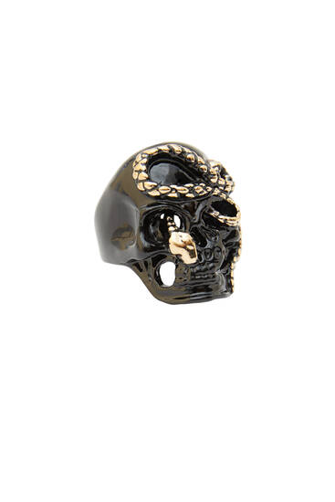 Skull-shaped signet ring